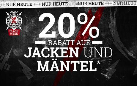 20% RABATT AUF JACKEN UND MÄNTEL