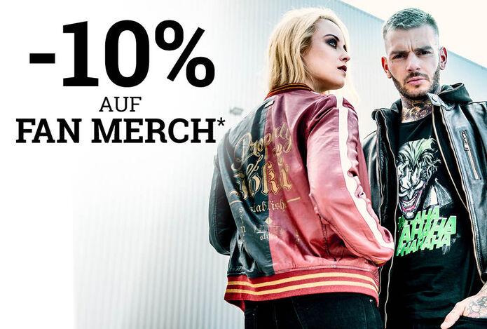 -10% auf Fan Merch
