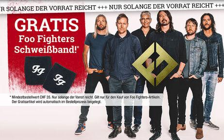 GRATIS Foo Fighters Schweißband!