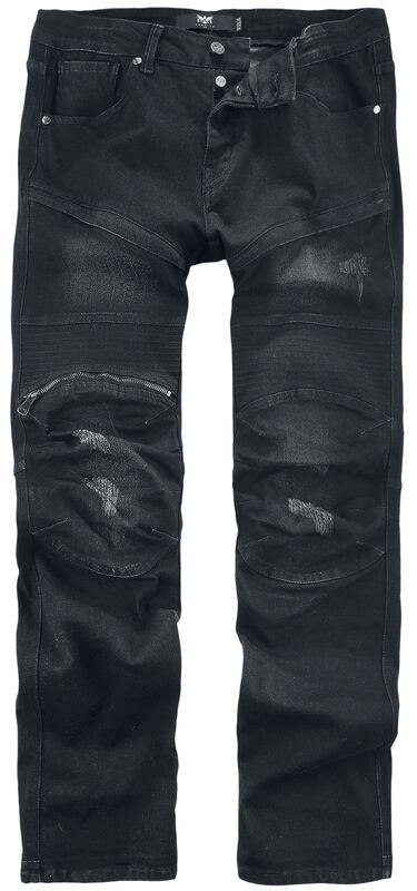 Pete - Schwarze Jeans im Biker-Look