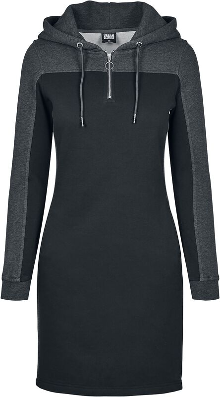 Ladies 2-Tone Hooded Dress