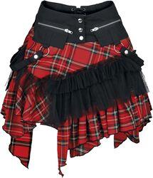 Check cat skirt