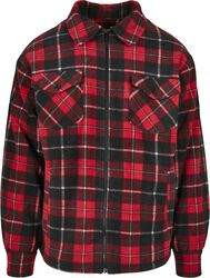 Plaid Teddy Lined Shirt Jacket