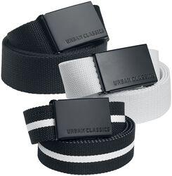 Canvas Belt 3er Pack