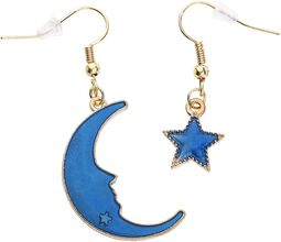 Little Moon and Star Earrings
