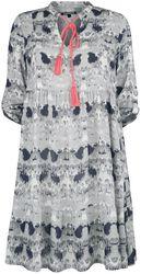 RED X CHIEMSEE - weiß/schwarzes Batik Kleid