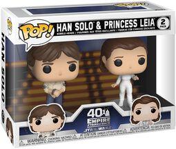 Empire Strikes Back 40th Anniversary - Han Solo & Princess Leia (2-Figuren) Vinyl Figur