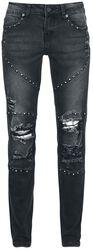 Schwarze Jeans mit Nieten