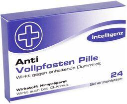 Scherztabletten Vollpfosten Pille