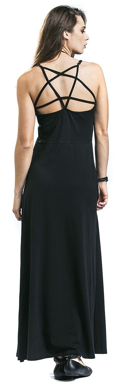 langes kleid mit beinschlitz gothicana  gothicanaemp