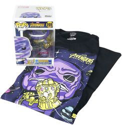 Infinity War - Thanos T-Shirt plus Funko - Fan-Paket