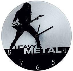Glas-Wanduhr Heavy Metal