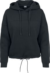 Ladies Oversized Tech Mesh Inset Hoody