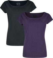 Doppelpack T-Shirts mit Rundhalsausschnitt