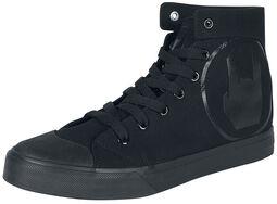 Schwarzer Sneaker mit Rockhand-Print
