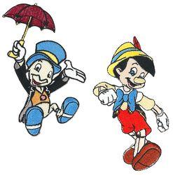 Pinocchio und Jiminy Grille