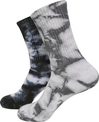 High Socks Tie Dye 2er Pack