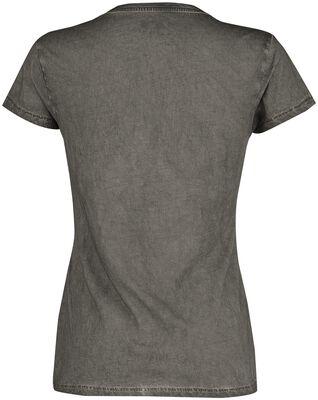 Graues T-Shirt mit V-Ausschnitt