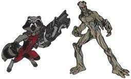 Rocket und Groot