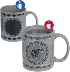 House Stark - Tasse mit Thermoeffekt