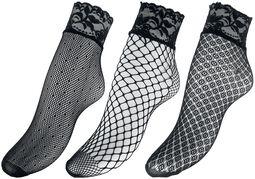 3er Pack Netz Socken