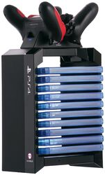 Sony PlayStation 4 PS4 Games Storage Tower + Dual Charger