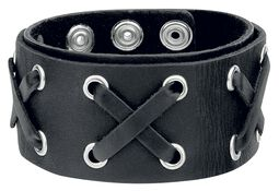 Crossed Leather Bracelet