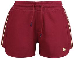 RED X CHIEMSEE - rote Shorts mit Logoprint