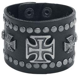 Clinch Cross Leather Bracelet
