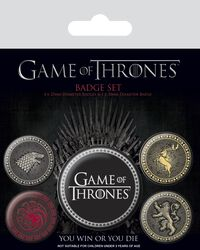 Stark, Targaryen, Lannister, Baratheon Sigils