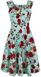 50s Ditsy Rose Floral Summer Dress