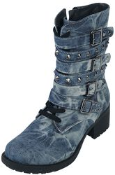 Stiefel in Jeansoptik mit Nieten Rock Rebel