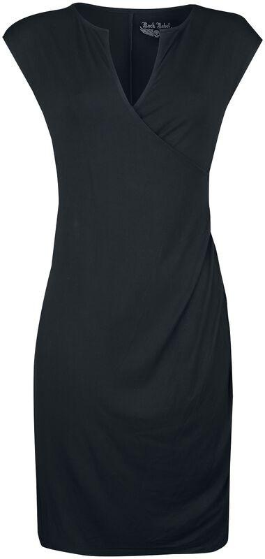 Kleid mit leichter Wickeloptik Rock Rebel