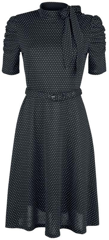 Posie Black Polka Dot Tie-neck Dress