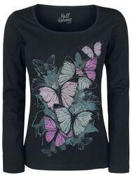 Langarmshirt mit Schmetterlingsprint