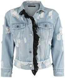Jeansjacke mit Destroyed Effekt