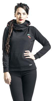Cherries Shawl Hoodie with Hairband