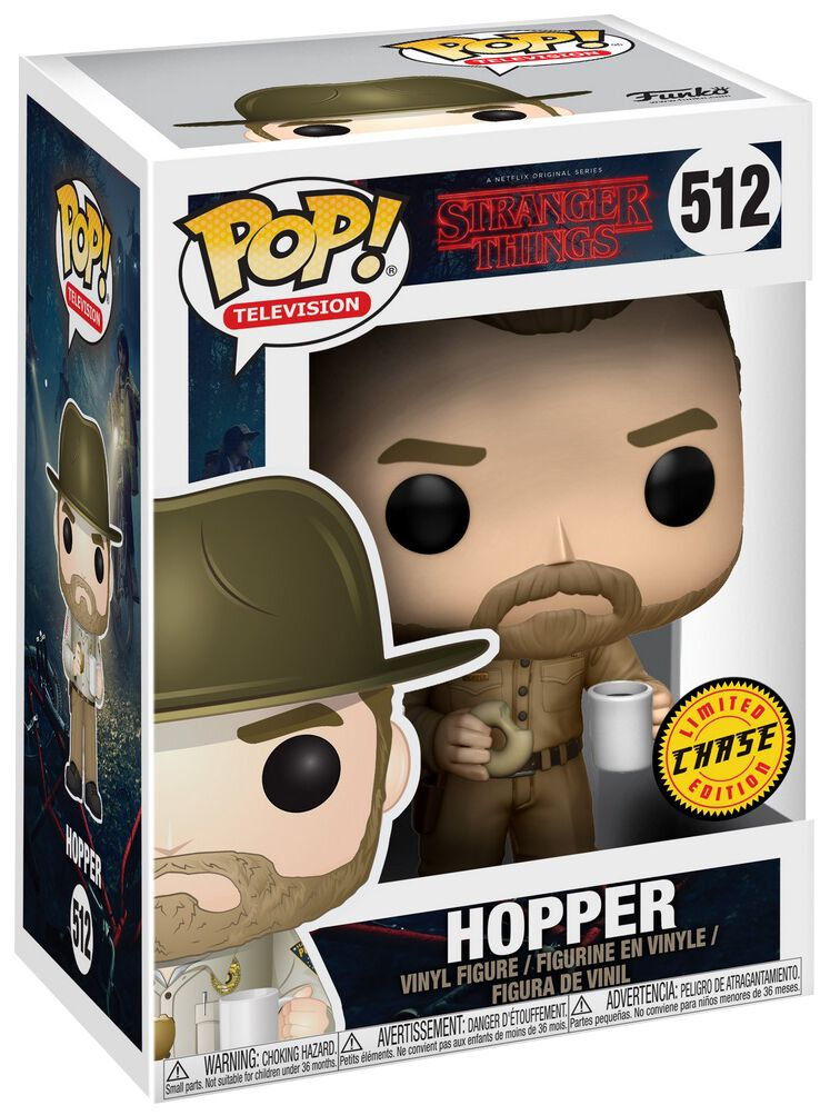 hopper with donut chase ist m glich vinyl figure 512 funko pop jetzt erh ltlich bei emp. Black Bedroom Furniture Sets. Home Design Ideas