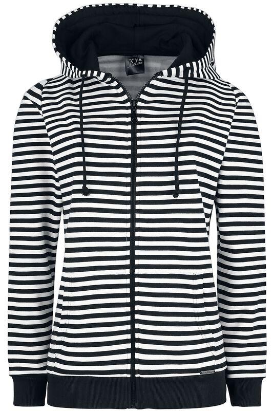 Stripes Hooded Zip-Jacket