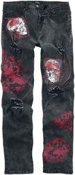 Jared - Schwarze Jeans mit vielfältigen Details