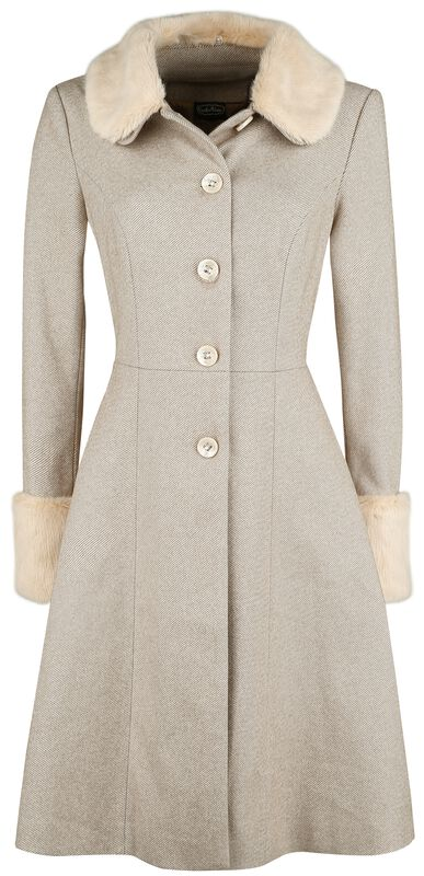 Louisa May Sand Long Dress Coat