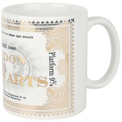Hogwarts Express Ticket - Tasse mit Foliendruck