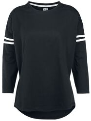 Ladies Sleeve Striped L/S Tee