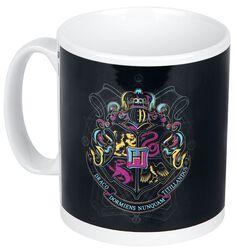 Neon Hogwarts Crest