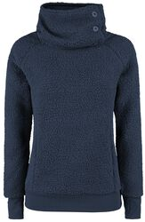 Ladies High Collar Fleece Sweater