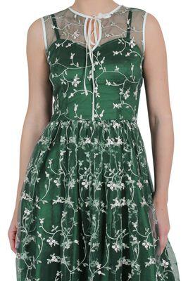 Tallulah Tulle Floral Embellished Flared Dress