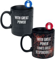 With Great Power - Tasse mit Thermoeffekt