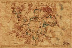 Breath Of The Wild - Hyrule World Map