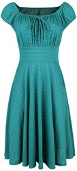 Tessy Green Gathered Dress