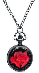 Red Rose Pocket Watch